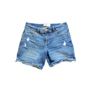 Girls Abercrombie Medium Wash Distressed Jean